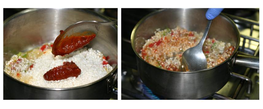 Verduras, arroz y pasta de Ñoras
