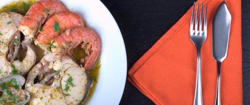Merluza en salsa marinera